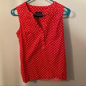 Pink polka dot sleeveless top ❤️